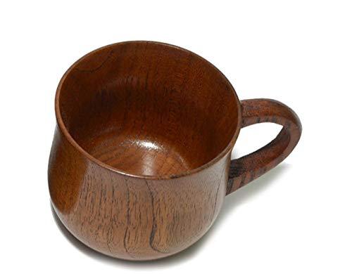 Dingsheng Holz Tasse Deko Dekoration Tasse Trinkbecher natürliche Jujube Holz Kaffeetasse Japanischen Stil für Kaffee Teetasse 7  8 cm 150ml