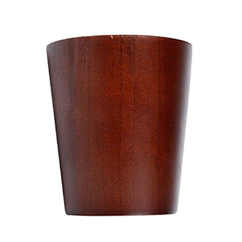 Gazechimp Holzbecher Kaffee Deko Tee Becher Kaffeetasse Dekorationsbecher Trinkbecher Kaffeebecher Milchbecher - Braun Flackernder Becher