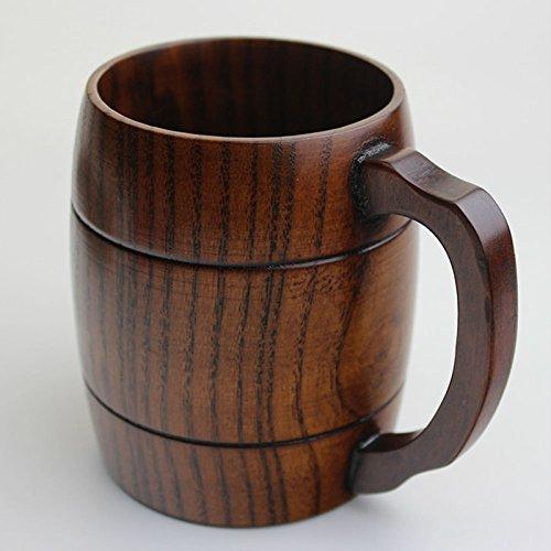 Yinew Holz Holzbecher Trinkbecher Tee Becher Kaffeetasse