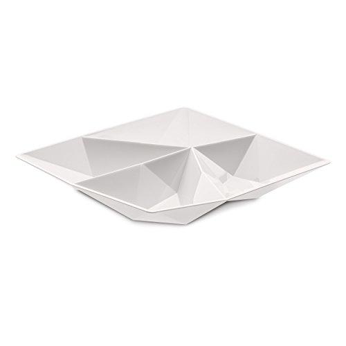 Koziol Kant Snackschale Schale Schälchen Servierschale Kunststoff Weiß 4 cm 3660525