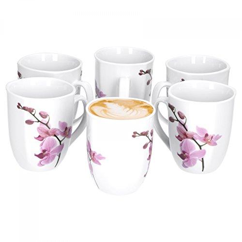 6er Set Kaffeebecher Kyoto Orchidee 33cl