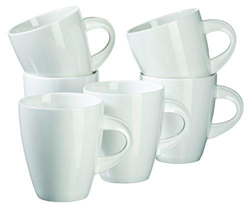 MÄSER Serie La Musica Kaffeebecher 400 ml Porzellan Kaffeetassen im 6er-Set