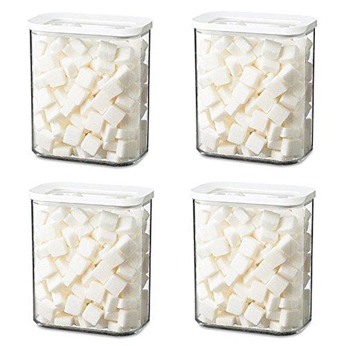Sparset 4X Rosti Mepal Modula 1500ml weiß Vorratsdose Kühlschrankdose Frischhaltedose