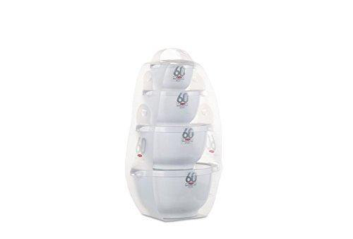 Rosti Mepal Margrethe-Set Rührschüssel-Mini-Tower - weiß 4-teilig