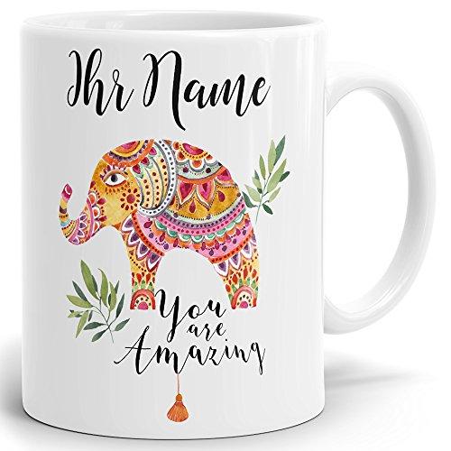 Drucksaal Namenstasse-Tasse-Becher-Kaffeetasse-mit Name-mit Namen individuell und persönlich Motiv Amazing
