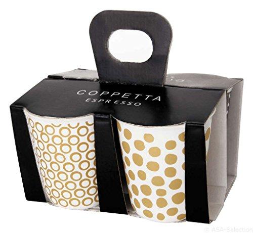 ASA 44400425 Espressobecher Set Weiß 100 Ml