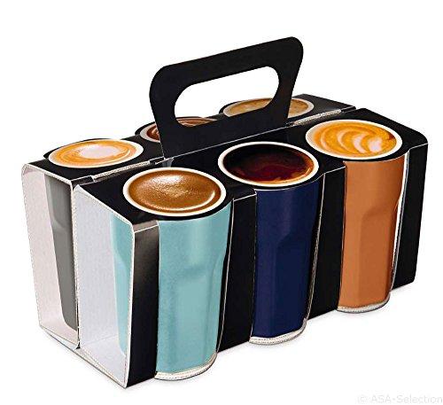 ASA CRAZY 6er Set Espressobecher - Nuance - Ø55 x H8 cm - im Geschenkkarton