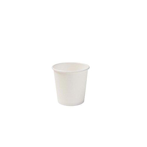 BIOZOYG Bio Espressobecher Einweg I Einmal Trinkbecher Probierbecher Partybedarf Becher biologisch abbaubar kompostierbar I Bio Einwegbecher weiß unbedruckt 50 Stück 100ml 4 oz