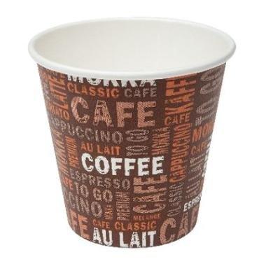 Gastro-Bedarf-Gutheil 1000 Coffee to go Bistro Becher 100ml Pappbecher EINWEG Espressobecher Mocca Tschai Tee