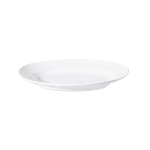 ASA 4730147 Grande ovale Tiefe Platte Keramik weiß glänzend 45 x 3450 x 10 cm