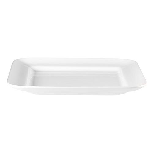 ASA 5248147 Grande quadratische Platte Keramik weiß glänzend 45 x 45 x 5 cm