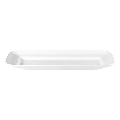 ASA Grande rechteckige Platte Keramik weiß glänzend 58x31x5 cm
