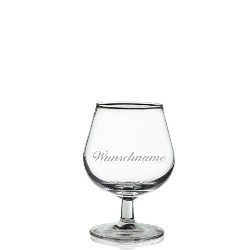 Cognacglas Cognacschwenker 150 ml mit Gratis Wunschname Wunschgravur