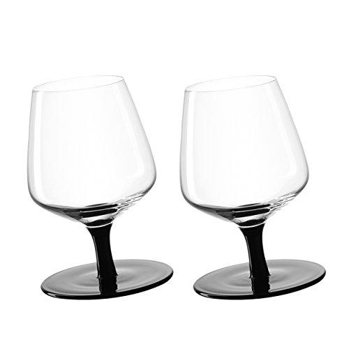 Leonardo 034923 CognacschwenkerKippelschwenker - Glas - schwarzklar