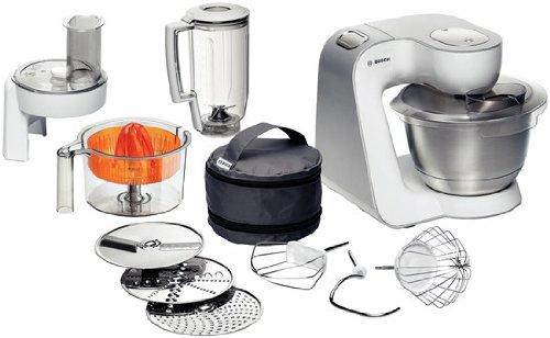 Bosch MUM54230 Küchenmaschine Styline  900 Watt  Edelstahl-Rührschüssel  Durchlaufschnitzler  Mixeraufsatz Kunststoff  Rühr-Schlagbesen und weiters Zubehör