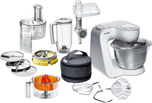 Bosch MUM54251 Küchenmaschine Styline Edelstahl-Rührschüssel inklusiv integriertem Zubehör 900 Watt Polnisches Modell