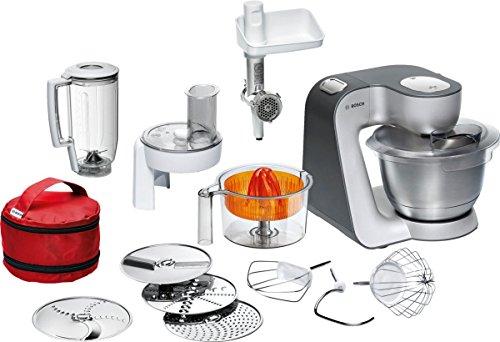 Bosch MUM56S40 Küchenmaschine Styline MUM5 900 Watt 39 Liter silber