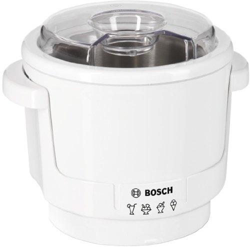 Bosch MUZ5EB2 Eisbereiter 400 W passend für Bosch Küchenmaschinen MUM5 doppelwandig max 550 ml Eis Rührwerkzeug weiß