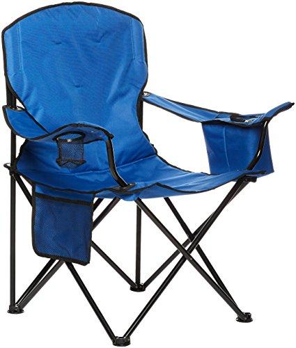 AmazonBasics - Campingstuhl mit Kühlfach Blau Gepolstert XL