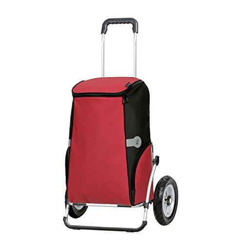 Sondermodell Andersen XXL Einkaufstrolley Royal Einkaufstasche Rune rot mit Kühlfach  Einkaufswagen luftbereift  Shopper Gestell Aluminium klappbar