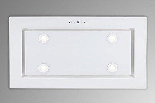 Dunstabzugshaube Deckenhaube 96cm EEK A F BAYER Lux 96GW - 4x2W Power LED Beleuchtung - 4 Stufen mit 1 Turbostufe-Nachlaufautomatik