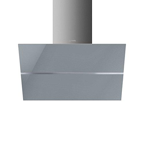 Smeg Dunstabzugshaube KCV80SG Wandhaube 80 cm Silberglas