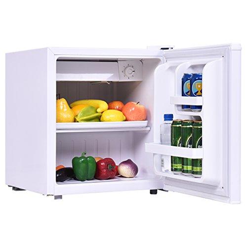 COSTWAY Mini Kühlschrank mit Gefrierfach Kühl-Gefrier-Kombination A 48L