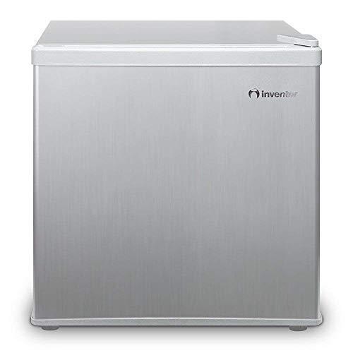 Inventor Mini-Kühlschrank 43L Energieklasse A Lagervolumen 43L Energieverbrauch 84 kWhJahr wechselbarer Türanschlag Höhe 492 cm Farbe Silber