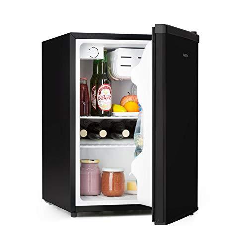 Klarstein Cool Kid • Getränkekühlschrank • Mini-Kühlschrank • Mini-Bar • 66 Liter • 42 db • 4-Liter-Chiller • 2 Gitterablagen • für Single- und Klein-Haushalte • Edelstahl • schwarz