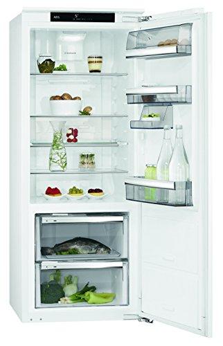 AEG SKE81436ZC Kühlschrank   153 l Kühlschrank ohne Gefrierfach  59 l 0 °C-Kaltraum  schnelles Kühlen lange Frische  sparsamer Einbaukühlschrank mit Glasablagen  A  H 140 cm  weiß
