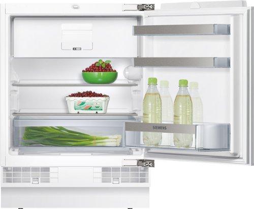 Siemens KU15LA60 iQ500 Kühlschrank  A  82 cm Höhe  140 kWhJahr  116 L Kühlteil  15 L Gefrierteil  safetyGlas  weiß  Flachschanier