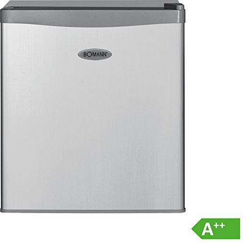 Bomann KB 389 Mini-KühlschrankA51 cm Höhe84 kWhJahr42 Liter Kühlteilregelbarer ThermostatKühlmittel R600a silber