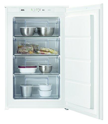 AEG ABB68821LS Einbau-Gefrierschrank  sparsamer Tiefkühlschrank mit LowFrost und Frostmatik-Technik  98 Liter Gefrierfach mit Glasablagen  A 157 kWhJahr  Einbau-Höhe 88 cm  weiß