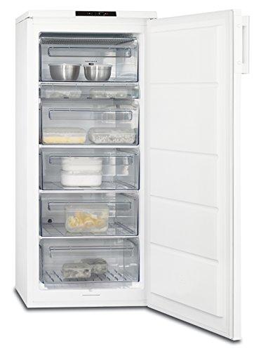 AEG AGB61911AW Gefrierschrank freistehend  sparsamer Tiefkühlschrank mit elektr Temperaturregelung und -alarm  geräumiges 168 l Gefrierfach  A 230 kWhJahr  Höhe 125 cm  weiß