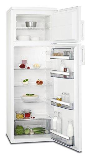 AEG RDB72721AW Kühl-Gefrier-Kombination mit Gefrierteil oben  209 l Kühlschrank  50 l Gefrierschrank  freistehender Kühlschrank mit Glasablagen  Kühl-Gefrierkombi  A  Höhe 159 cm  weiß