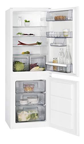 AEG SCE51621LS Einbau Kühl-Gefrier-Kombination mit Gefrierteil unten  160 l Kühlschrank  72 l Gefrierschrank  großer Einbaukühlschrank mit Glasablagen  LowFrost  Einbau-Höhe 158 cm  weiß