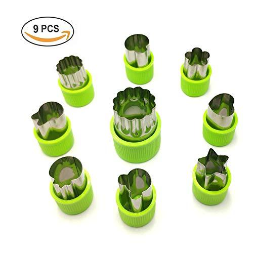 Nifogo Plätzchen Ausstecher Ausstechformen 9 Stück Edelstahl Keksausstecher Torten Deko Fondant Ausstecher Backzubehör für Kuchen Plätzchen Gemüse Obst