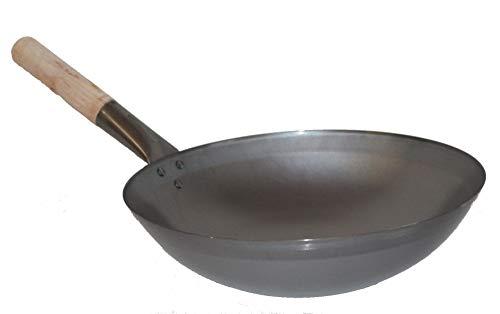AAF Nommel  Wok ca 36 cm Durchmesser mit rundem Boden für Gas Gastronomie Wokpfanne