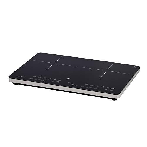WMF Kult X Doppel- Induktionskochfeld 3500 W bis zu 28 cm 2 Kochzonen 8 Leistungsstufen Topferkennung Touch-Display Glaskeramik Timer-Funktion