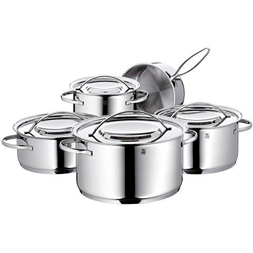 WMF Gala Plus Topfset 5-teilig mit Metalldeckel Kochtopf Stielkasserolle Cromargan Edelstahl poliert induktionsgeeignet spülmaschinengeeignet