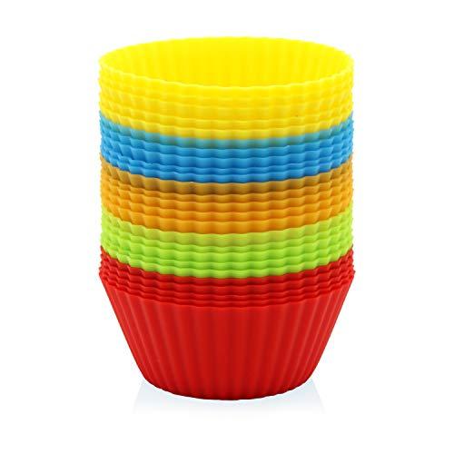 GOURMEO 25 Muffinförmchen in 5 Farben wiederverwendbar hochwertiges Silikon umweltschonend - Cupcakeförmchen Backförmchen Cupcake Muffinform