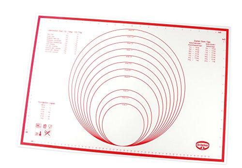Dr Oetker Backmatte Silikon Backunterlage multifunktionale Back-Ausrollmatte glasfaserverstärktes Platinsilikon Menge 1 Stück