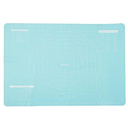 Webake 70x50cm Silikon Backmatte Teigmatte Ausrollmatte Backmatte für Teigrollen Arbeitsmatte für Fondant- Türkis