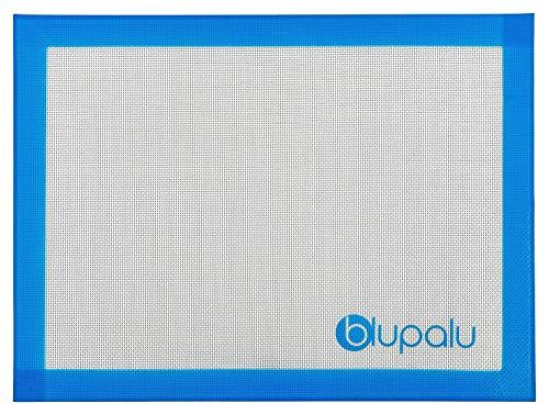 blupalu Silikon Backmatte Backofenmatte Teigmatte Ausrollmatte Backunterlage 40 x 30 cm