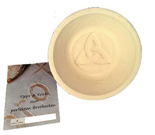 Gärkorb Gärkörbchen Holzschliff rund für 10 kg Brote mit Bodenmuster Celtic inkl Info perfekt Brot backen