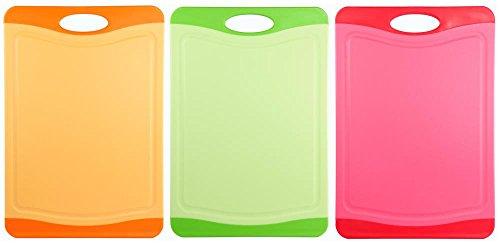 culinario 3er Set Schneidebretter mit Hygiene-Schutz 29 x 20 cm in 3 Farben