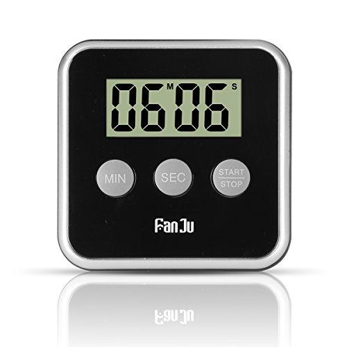 FanJu FJ231 Eieruhr Digital Küchentimer Kitchen Timer with Big Display  Lauter Alarm  Magnetischer Rückseite  Einklappbarer Ständer  Einfache Bedienung Mini Countdown Alarm